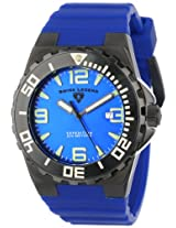 Swiss Legend Men's 10008-BB-03 Expedition Blue Dial Blue Silicone Watch