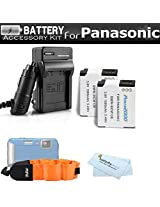 2 Pack Battery And Charger Kit For Panasonic Lumix DMC-TS5 DMC-TS5D DMC-TS5K DMC-TS5A DMC-TS5S Tough Digital Camera Includes 2 Extended Replacement (1500Mah) DMW-BCM13E Batteries + Ac/Dc Rapid Travel Charger + FLOAT STRAP + MicroFiber Cleaning Cloth