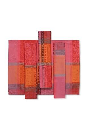 Garnier-Thiebaut Set of 4 Mille Wax Placemats (Sunset)