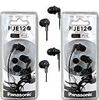 Panasonic RP-HJE120 ErgoFit In-Ear Headphones Stereo Earbuds (2-Pack Black) AD