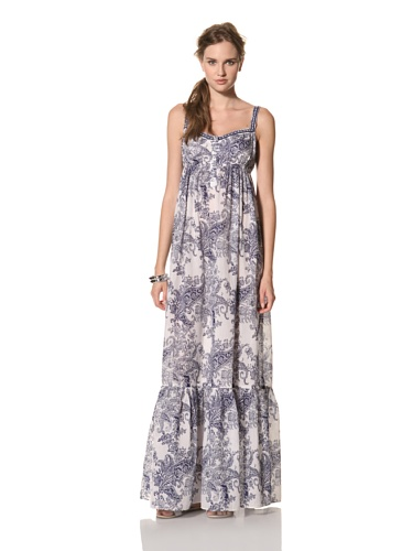 COLLETTE BY COLLETTE DINNIGAN Women's Shoestring Maxi Dress (Royal)