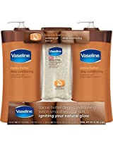 Vaseline Cocoa Butter Deep Conditioning Body Lotion - 20.3 Fl. Oz., 2 pk. with 6.8 Fl. Oz. Vitalizing Gel Body Oil