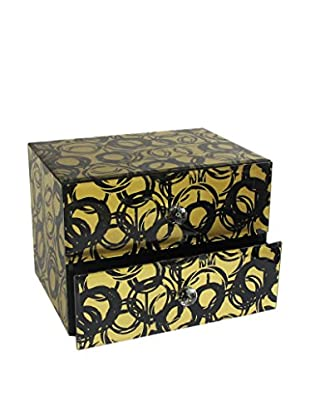 American Atelier Circles 2-Drawer Jewelry Box, Gold/Black