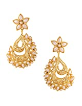 Ethnic Indian Artisan Jewelry Set Pretty Dangler EarringsBAEA0350WH