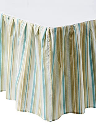 Natural Shells Striped Dust Ruffle