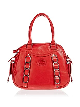 Borella Leder Bowling-Bag (Rot)