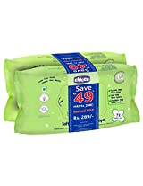 Chicco Baby Moments Soft Cleansing Wipes - 72 pcs (Pack of 2)
