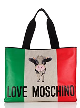 Love Moschino Shopper Canvas St. Italian Cow (Elfenbein)