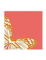 Leaf Designs Peach And Orange Trivet - Set Of 6