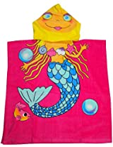 Kreative Kids - Girls Hooded Mermaid Bath Towel Pink Yellow 32935-onesize