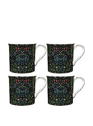 Home Essentials Set of 4 Blackthorn 10-Oz. Mugs