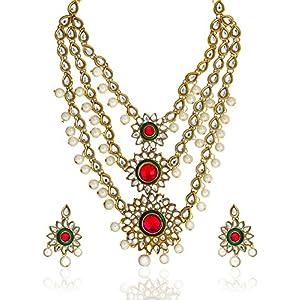 Zaveri Pearls Rani Haar Necklace Set ZPAM40 Multicolour