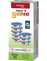 Playtex Diaper Genie Refill Gift Set - 270 Count (Pack of 8) - Great for Baby Registry