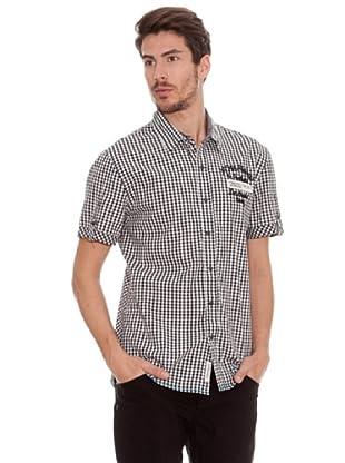Timeout Camisa MC Cuadros (negro)