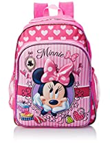 Disney Little Girls' Minnie Mouse 3D Eva Molded Backpack, Hot Pink/Light Pink, 16x12x5