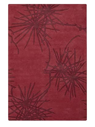Chandra Counterfeit Studio Hand Tufted Wool Rug (Reds)