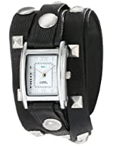 La Mer Collections Women's LMLW1010B Stainless Steel Watch with Leather Wrap-Around Bands