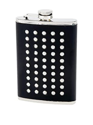 Stainless Steel Black Studded Flask