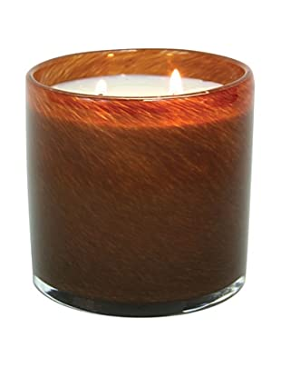 Alassis Set of 2 14-Oz. Art Glass Candles, Amber Vanilla, Brown