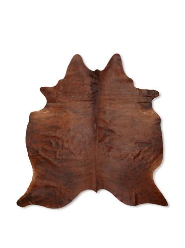 Shaped Hide Brown Rug, 7' x 6'