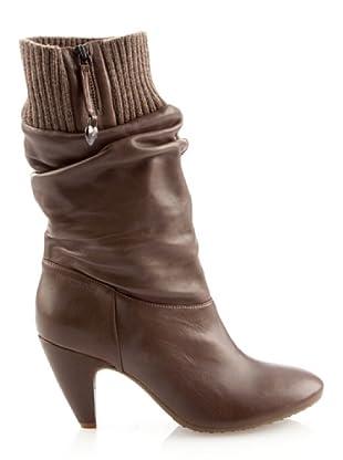 Fornarina PIFEB7605WV00 - Botas de cuero para mujer (Beige)