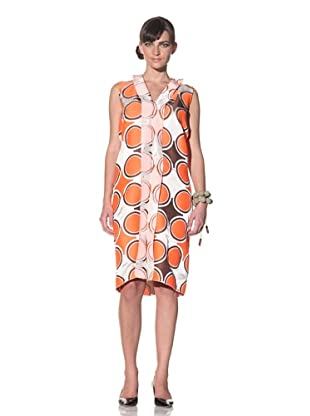 MARNI Women's Sleeveless Jacquard Dress (Orange)