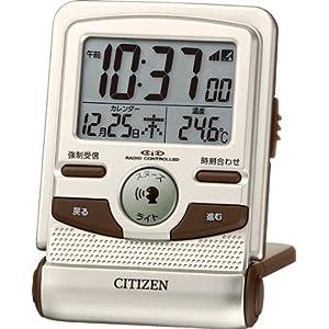CITIZEN (シチズン) 目覚し時計 パルデジットガイド 電波時計 トラベラー 音声ガイド 8RZ109-018
