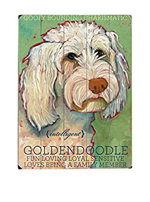 Artehouse Goldendoodle Wood Wall Décor (Green/White)