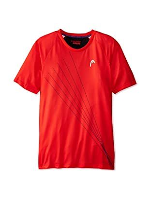 HEAD Men's Rebel Performance T-Shirt (Flame Scarlet)