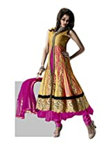 Incredible Embroidered Net Anarkali Suit