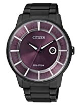 Citizen Eco-Drive Analog Black Dial Men's Watch - AW0015-08E
