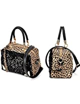 New Black Fashion Women Lady Sequins Paillette Shouder Bag Leopard Handbag Tote