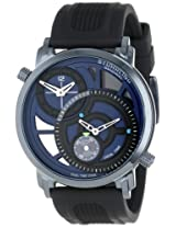 Stuhrling Original Men's 503.33X66 Symphony Eclipse Horizon Swiss Quartz Dual Time Blue Watch