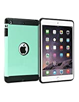 iPad mini Case, GMYLE Hybrid Case Tough for iPad mini - Mint Green Hybrid TPU Protective Hard Shell Back Case