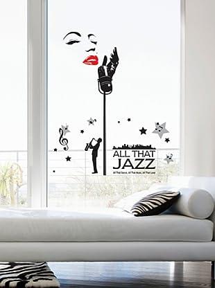 Ambiance Live Wandtattoo Sticker Jazz singer mehrfarbig