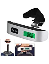 Bulfyss Luggage Travel Weighing Scales - 50Kg Sturdy Heavy Duty Portable Handheld Electronic Digital Lcd With Temperature Display (90 days warranty)