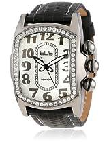 Eos New York Eos New York Unisex 81Lblksil Vanguard Black Leather Strap Watch - 81Lblksil