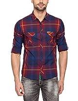 Spykar Men Cotton Red Casual Shirt (X-Large)
