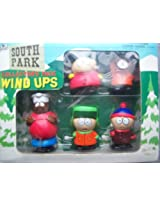 1998 South Park STAN KYLE KENNY CARTMAN CHEF Wind-Up Walkers Set