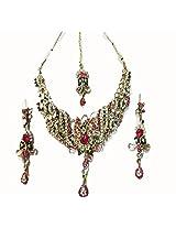 Sneh Ellegantly Crafted Kundan & CZ Necklace Set For Women