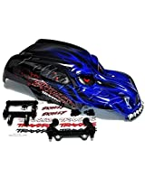 Traxxas Blue Skully Body With Decals And Mounts For Stampede