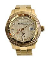 Marc Ecko Marc Ecko The Force Mid Size All Gold Tone Stainless Steel Bracelet Magnified Date Watch M12504M1 - M12504M1