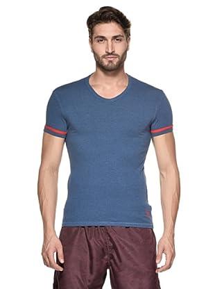 Yamamay Camiseta Manga Corta Cuello V (Azul Melange)