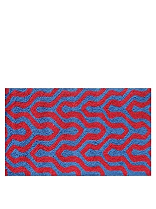 Pop Accents Jagged Rug (Red/Blue)