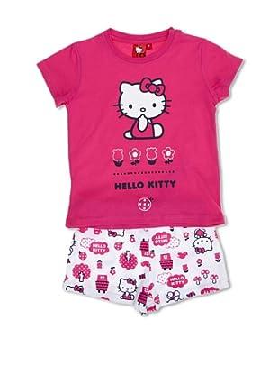 Licencias Pijama Hello Kitty (Blanco / Fucsia)