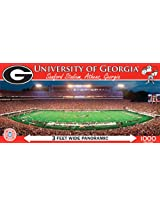 MasterPieces NCAA Georgia Bulldogs Stadium Panoramic Jigsaw Puzzle, 1000-Piece