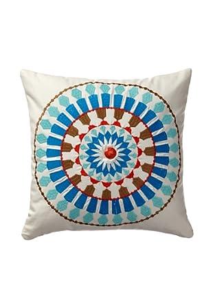 Echo Beacon's Paisley Square Pillow (White)