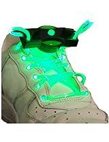 WeGlow International LED Shoelaces (2-Pair), Green