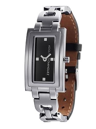 Adolfo Dominguez Watches 31001 - Reloj de Señora cuarzo brazalete metálico dial Negro