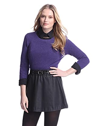 Cashmere Addiction Women's Long Sleeve Crew Neck Sweater (Twilight)